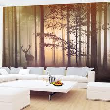 Fototapete Wald Hirsch Vlies Wand Tapete Wohnzimmer Schlafzimmer