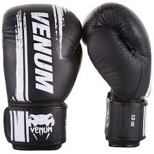 venum bangkok spirit boxing gloves nappa leather black