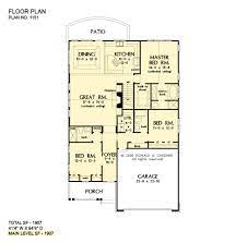 Small 2 bedroom one story house plans, floor plans & bungalows. Narrow 1 Story Cottage Homeplan 3 Private Bedroom Homeplan