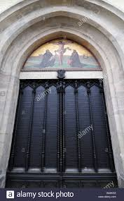 Decorating martin luther church door photos : Door of Wittenberg Castle Church where Martin Luther nailed his 95 ...