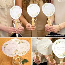 here s a great free printable and diy for all you crafty brides out there as these personalized paper fans
