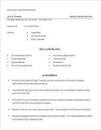 Resume Templates For Highschool Students Amazing Free Sample Resume Templates For Highschool Students Califdir