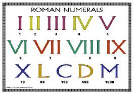 Super Bowl Roman Numerals Chart 800 900 B C Roman Numerals The Roman Numerals Sutori