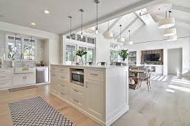 Open Concept Living Room Kitchen Example Of A Country Open Concept Kitchen  Design In Austin With