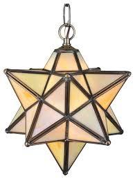 meyda lighting 12 w moravian star beige iridescent pendant
