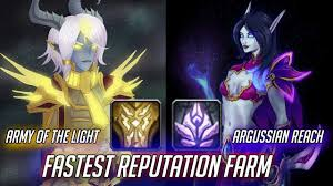 Best Way To Get Exalted With Army Of The Light Fastest Reputation Farm For Argussian Reach And Army Of The Light