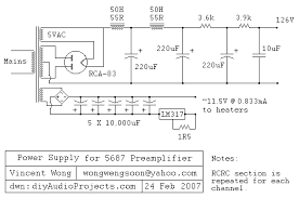 ~circuit diagram tube preamplifier 5687 led biased circuit diagram