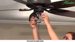 how to remove a light kit from your hunter ceiling fan 5 regarding hunter fan light