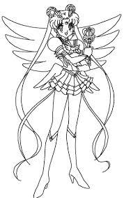 Sailor Moon Coloring Pages Fresh Drawings Princess Serenity 1112