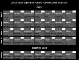 Insanity Workout Schedule - Free Insanity Workout Pdf | Honest ...