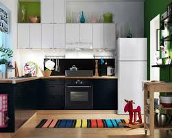 ikea modern kitchen. Wonderful Ikea Small Modern Kitchen Design With Black Cabinet And White Refrigerator