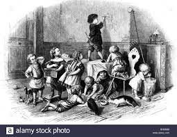 education school classroom children in school in the recess education school classroom children in school in the recess out supervision copper engraving after drawing by ed schul