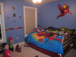 Marvel Bedroom Accessories Wonderful Superhero Marvel Wallpaper Kids Bedroom Design Ideas