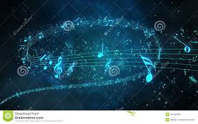 Animated Background With Musical Notes Music Notes Flowing Stock