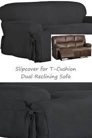 black couch slipcovers.  Couch Dual Reclining TCushion SOFA Slipcover Suede Black For 3Seater Recliner  Couch Sure And Slipcovers R