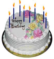 Fancy White Birthday Cake With Pink And Yellow Decorative Flowers