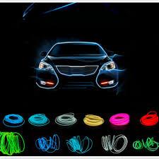 jurus 5m auto interior led el flexible wire rope neon light line 10 colors with