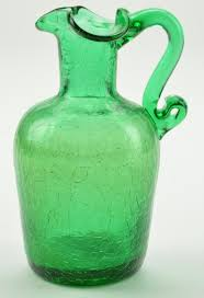 002600410000 vintage green le glass pitcher 4 5 tall 0 700 jpg