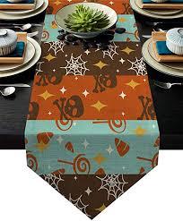 Libaoge Coffee Table Runner <b>Halloween Theme Pattern</b> Patterned ...
