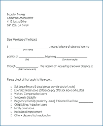 Format Of School Absence Letter Sample Excuse For Sick Free