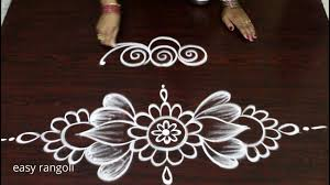 Side Rangoli Designs Images Simple Freehand Side Border Rangoli Designs With Out Dots