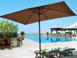 strong camel 10u0027x65u0027 outdoor solar 26 led lights aluminium patio umbrella rectangle patio umbrellas5 patio
