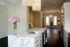calacatta marble kitchen waterfall: claremont park modern kitchen modern kitchen claremont park modern kitchen