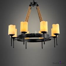 large dinning room 8 light rope led chandelier with beige frosted glass shade takeluckhome com