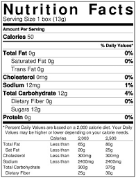 skittles fun size nutrition label