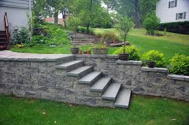 cornerstone retaining wall blocks used for landscape stairs