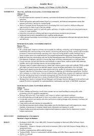 Senior Manager Customer Service Resume Samples Velvet Jobs