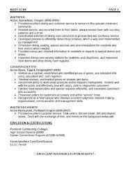 Waitress Resume Sample Skills Best of Waitress Resume Skills Cocktail Waitress Resume Templates Template
