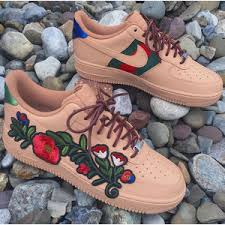 gucci air force 1. custom gucci flower air force one low 1
