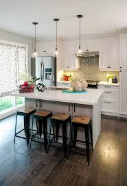 Kitchen, Tiny Kitchen Design Ideas Gray Granite Countertops Flush Mount  Ceiling Light Brown Solid Wood