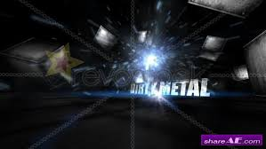 free after effects templates dirty metal text after effects project revostock free after