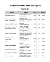 10 Business Agendas Examples Samples Examples