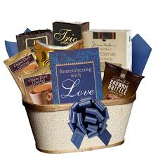 art and gifts condolences sympathy gift basket