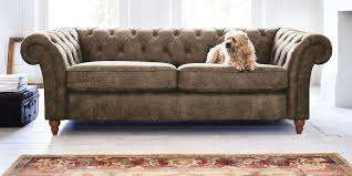 Next Living Room Furniture Buy Gosford Buttoned Leather Large Sofa 3 Seats Santiago Mid