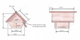 wren bird house plans. Wren Bird House Plans B