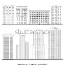 architecture blueprints skyscraper. Modren Blueprints Outline Blueprint Skyscraper Building Facade City Downtown Structure  Collection Architecture On Blueprints Skyscraper I