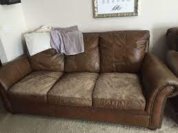 leather couch repair cushions on sofa