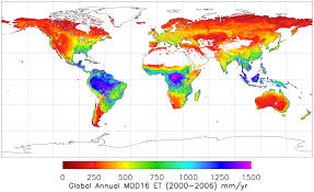 Evaporation Potential Chart Modis Global Evapotranspiration Project Mod16 Numerical