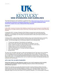 Uky Graphic Design Web Standards And Guidelines