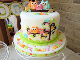 Cakes Toppers Baby Shower  Party XYZBaby Shower Owl Cake Toppers