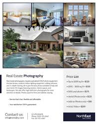 037 Real Estate Flyer Template Ideas Photographer Remarkable