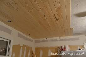 Wood ceiling kitchen Wood Beams Kitchen 047 Beneath My Heart Sneak Peek Of Our Wood Ceiling and Christmas Guest Post