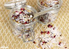 these fl bath salts are made with lavender essential oil dried flowers and dead sea