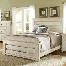white rustic bedroom furniture. Unique White Distressed White Stained Wooden Master Bed With Ladder Headboard And  Footboard In Khaki Painted Wall Bedroom Rustic Furniture H