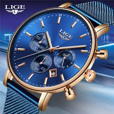 <b>LIGE</b> Fashion <b>Men Watches</b> Male <b>Top</b> Brand Luxury Quartz <b>Watch</b> ...