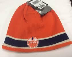 Vintage ajd team nfl houston oilers men snapback osfa lid ballcap hat. Edmonton Oilers Vintage Ccm Orange Striped Winter Hat Hockey Jersey Outlet